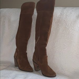 Sz 7.5 Brown suede over the knee Dolce Vita boots